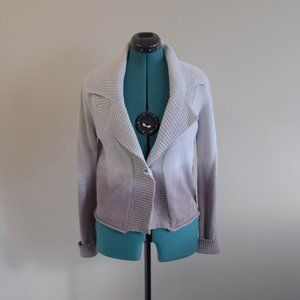 Belgian Knit Ombre Gray Sweater Cardigan